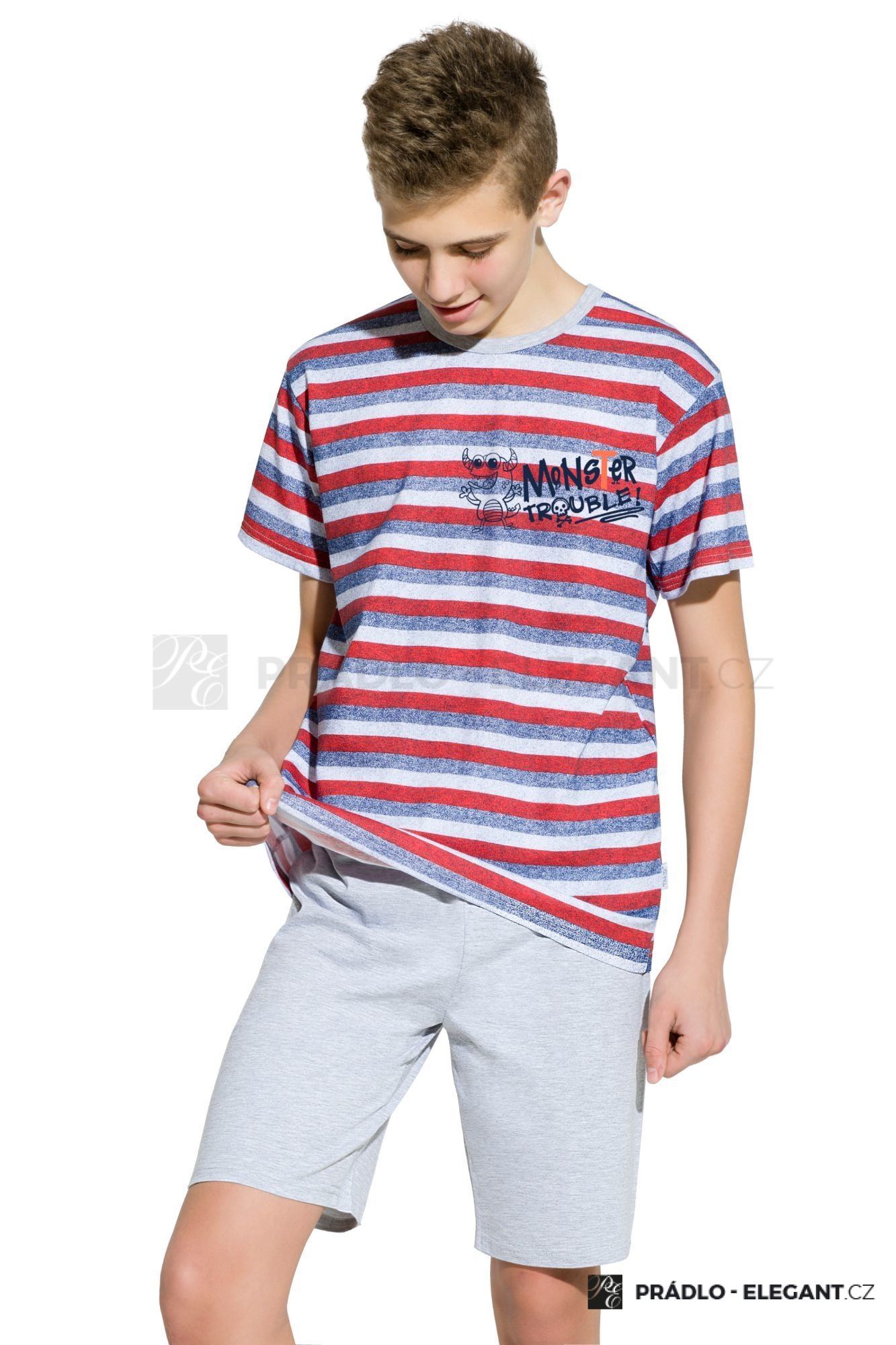66c73c15b7e5 Chlapecké bavlněné pyžamo Max pruhované - ELEGANT.cz
