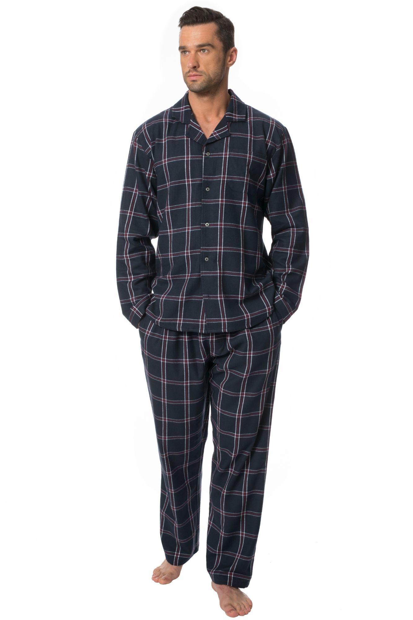 bc2b9af02014 Pánské flanelové pyžamo Barney černé káro - ELEGANT.cz