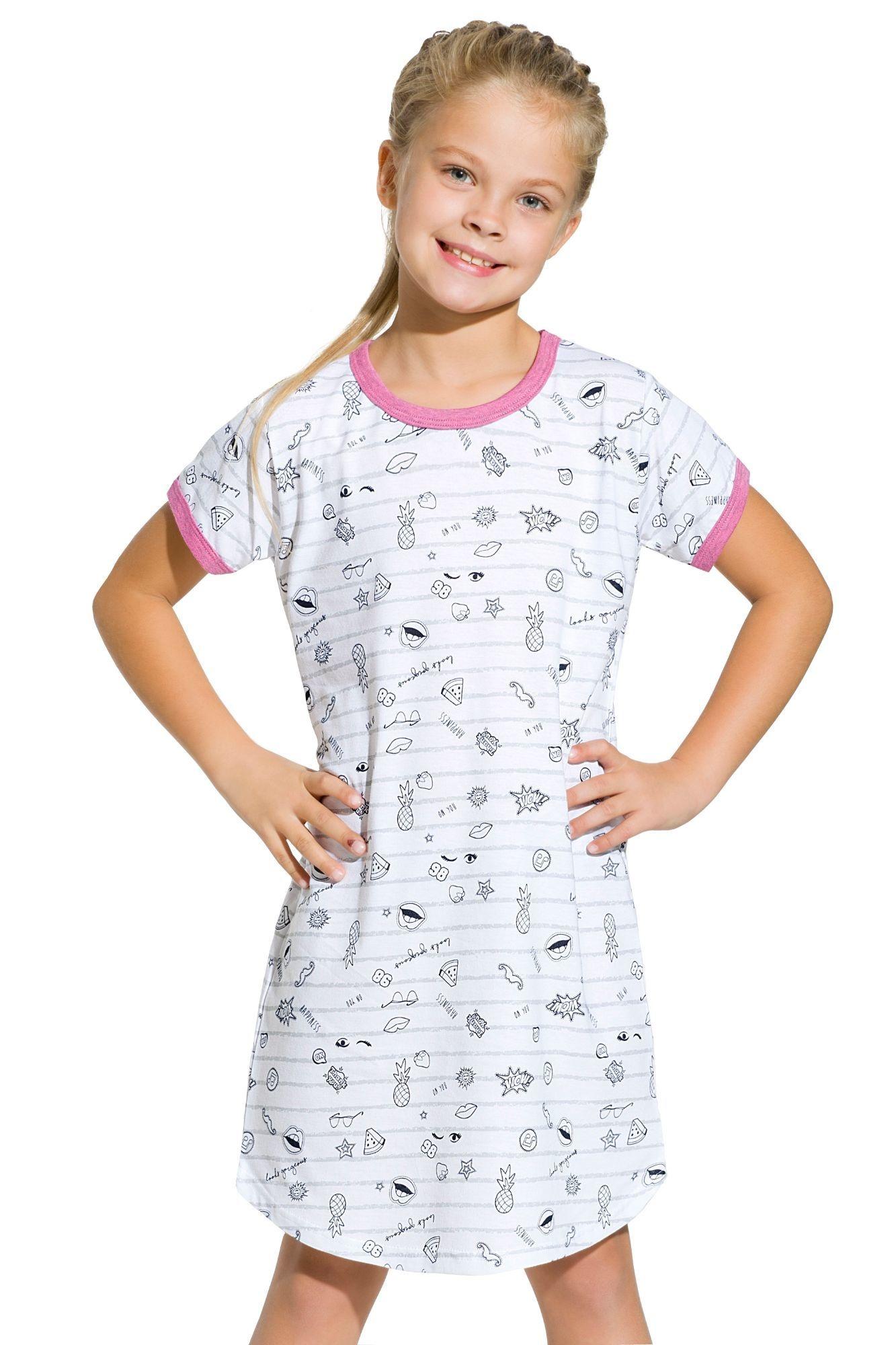 Dívčí noční košile Pepa komiks šedá - ELEGANT.cz 3f587561a0