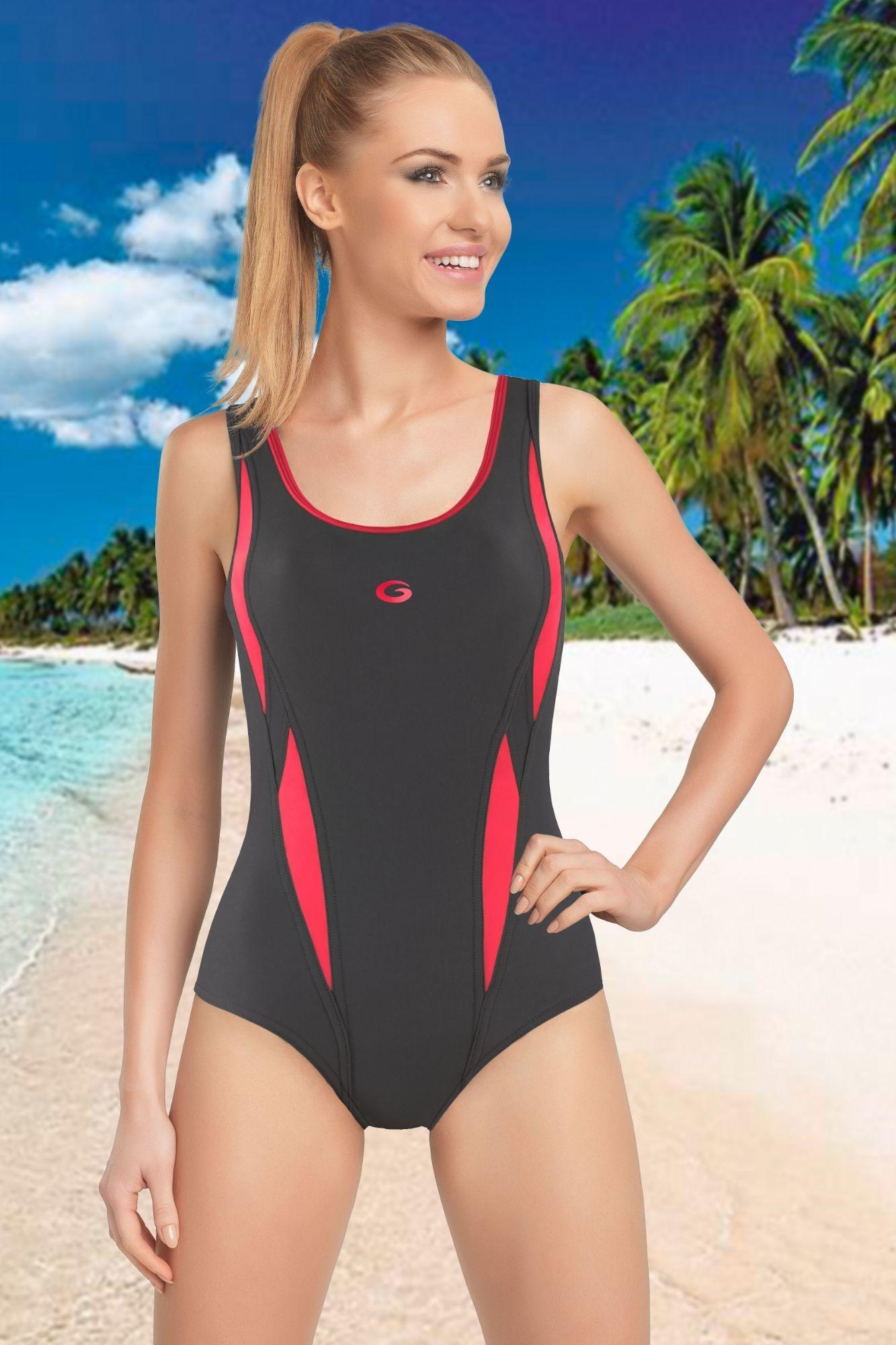 Jednodílné sportovní plavky Aqua I - ELEGANT.cz 3d2b5f63fc