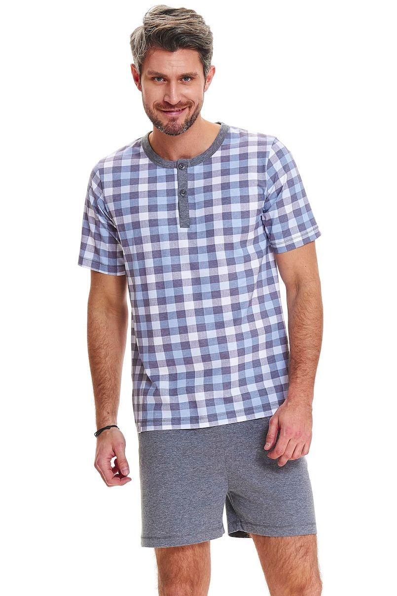 Pánské bavlněné pyžamo Logan modré - ELEGANT.cz 2f25cccd11