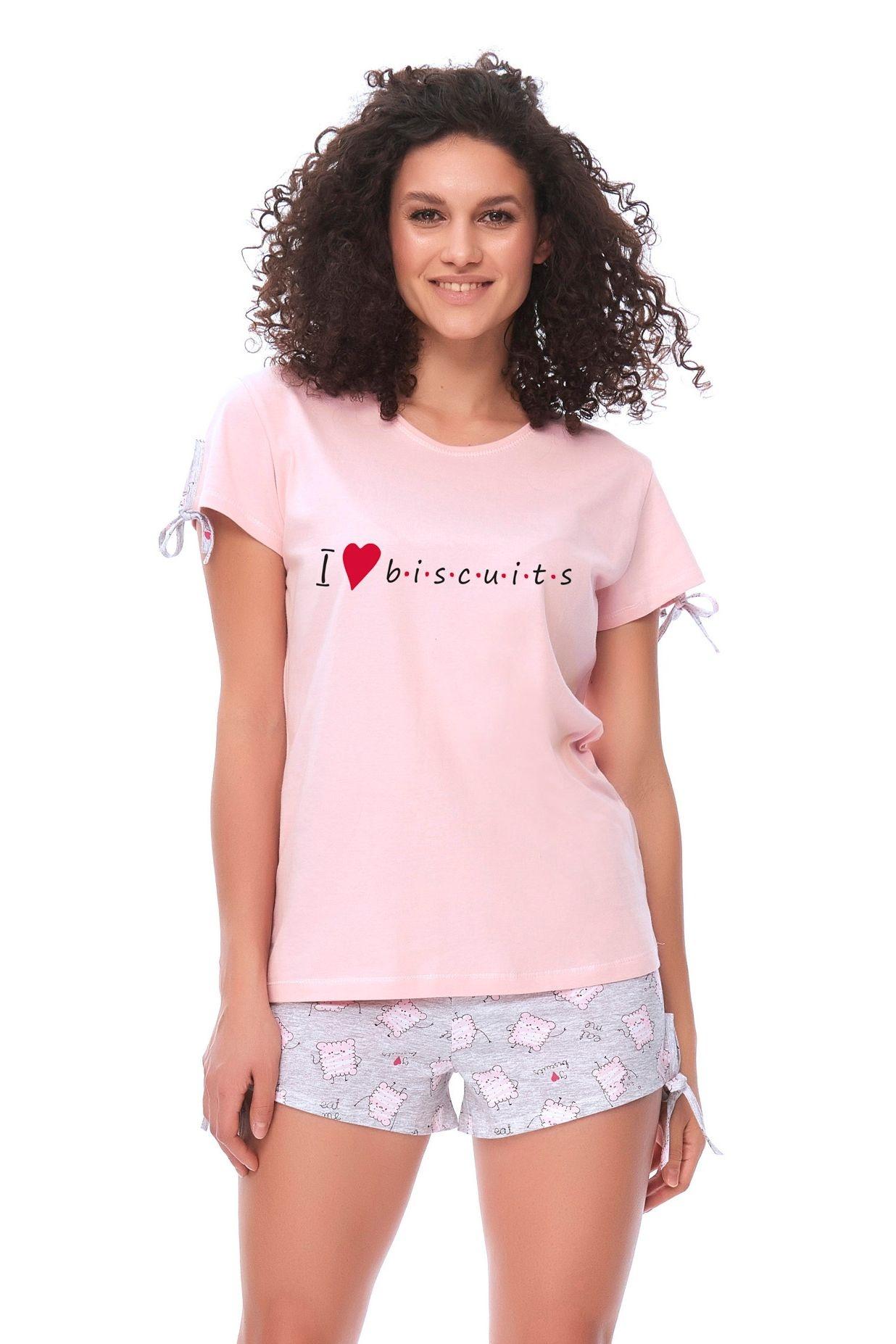 ff3dcd7595e Dámské pyžamo Biscuits růžové - ELEGANT.cz