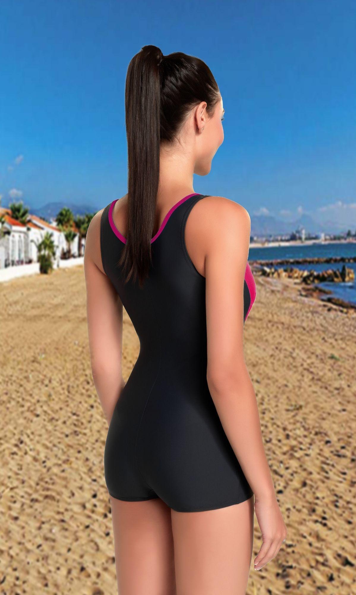 2f03cc4ad87 Jednodílné plavky s nohavičkou Isabel šedé Jednodílné plavky s nohavičkou  Isabel šedé