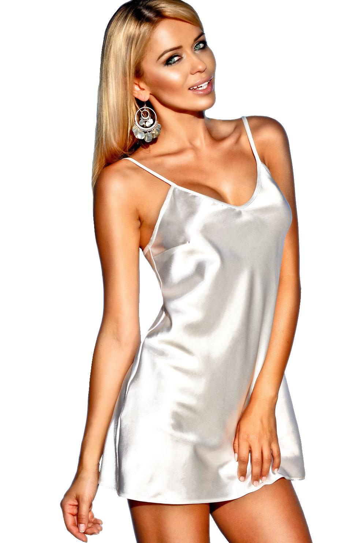 22adb69ae33 Něžná noční košilka Ibiza bílá - Prádlo ELEGANT.cz