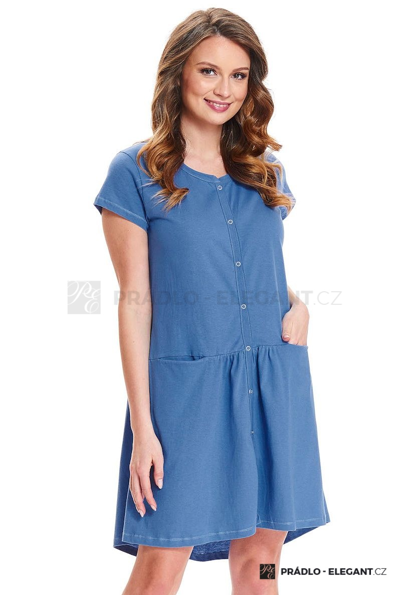 Kojící noční košile Bella modrá - ELEGANT.cz 29de557cd6