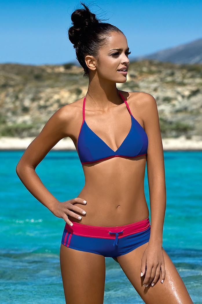 Dámské sportovní plavky Artis modré růžové - ELEGANT.cz 6f60d2868e