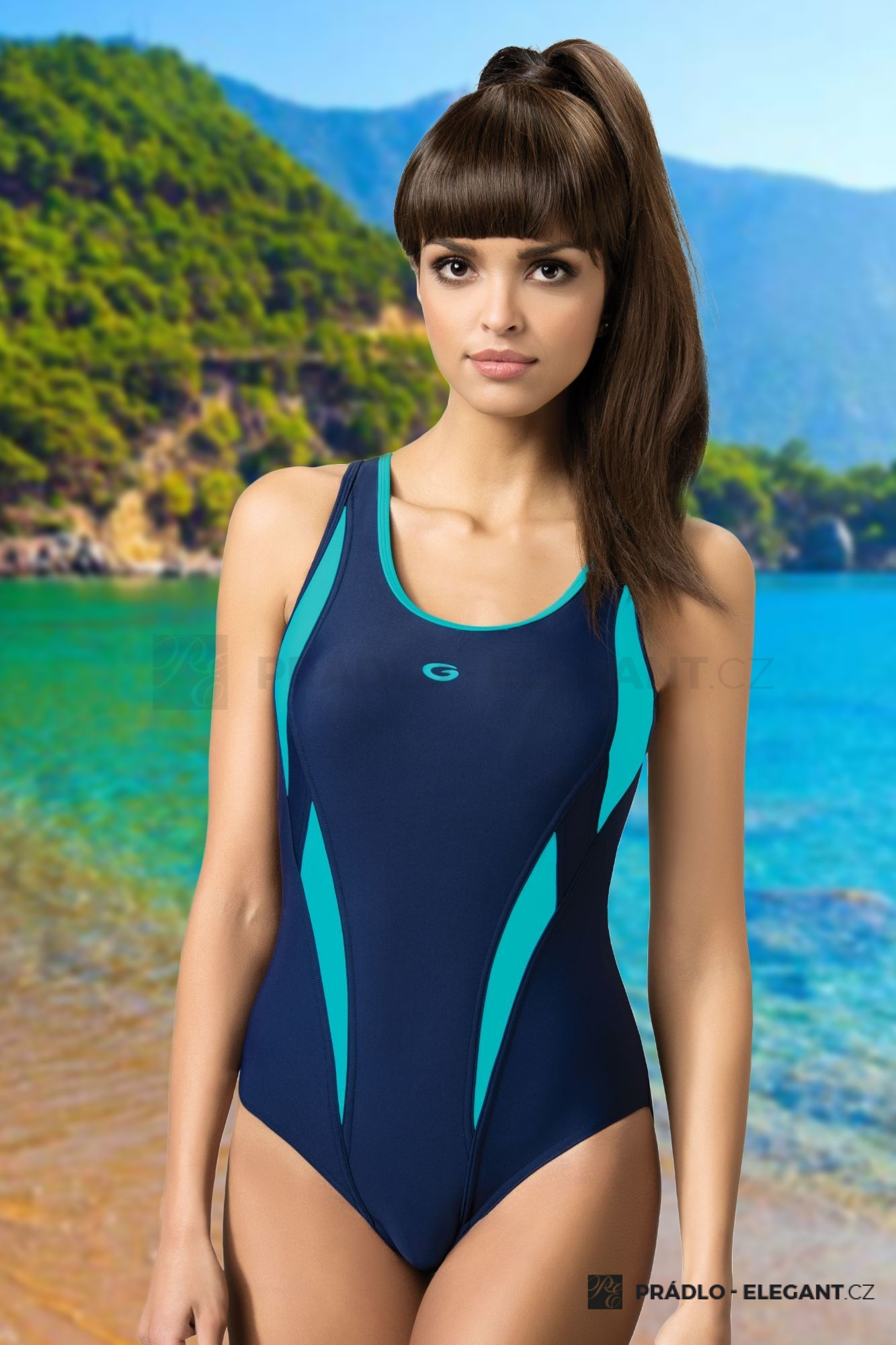 Jednodílné sportovní plavky Aqua III - ELEGANT.cz 60df442788