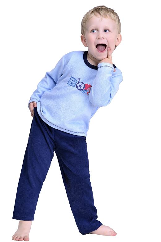Froté chlapecké pyžamo Boys modré