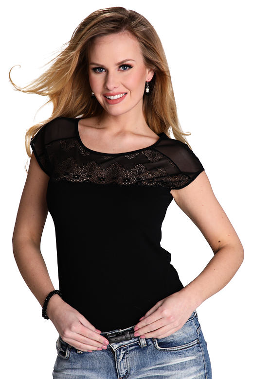 Dámské triko Marita černé