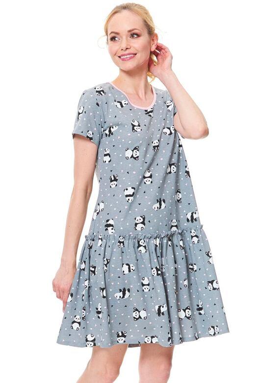 Dámská noční košile Funny šedá panda
