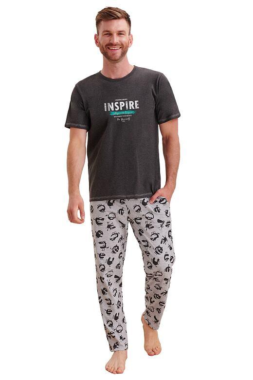 Pánské pyžamo Jeremy šedé XXL