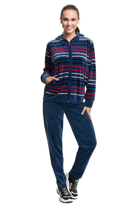 Dámské pyžamo Nora tmavě modré s pruhy L