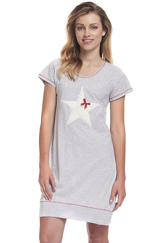 Noční košile Polaris hvězda šedá