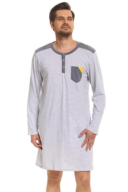 Pánská noční košile Luis šedá