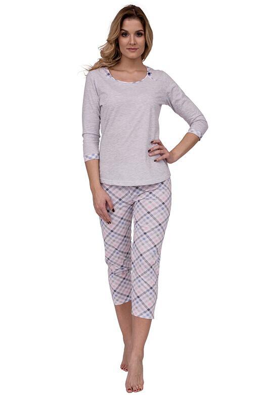 Luxusní dámské pyžamo Sindy šedé