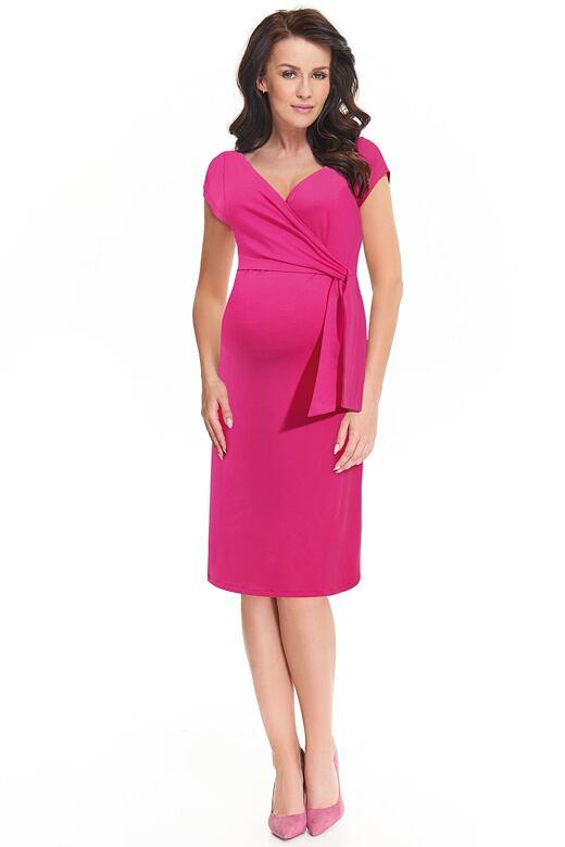 Těhotenské a kojící šaty Janisa růžové