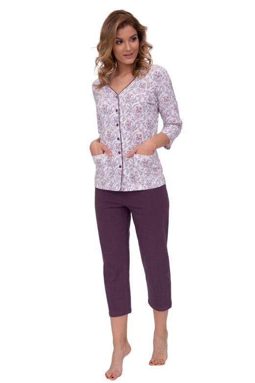 5e318cbfa26 Luxusní dámské pyžamo Petra orientální vzor vínové