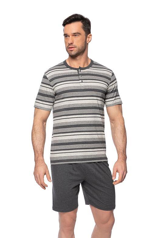 Krátké pánské pyžamo Denis šedé L