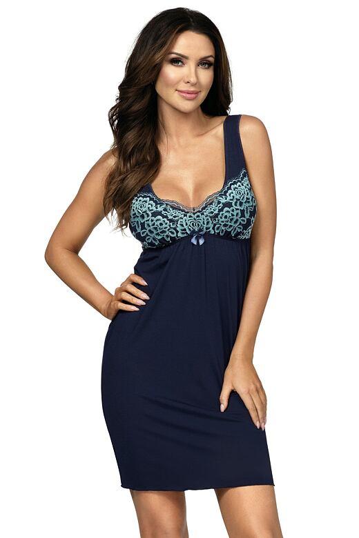 Luxusní dámská košilka Flavia tmavě modrá XL - Dárkové balení