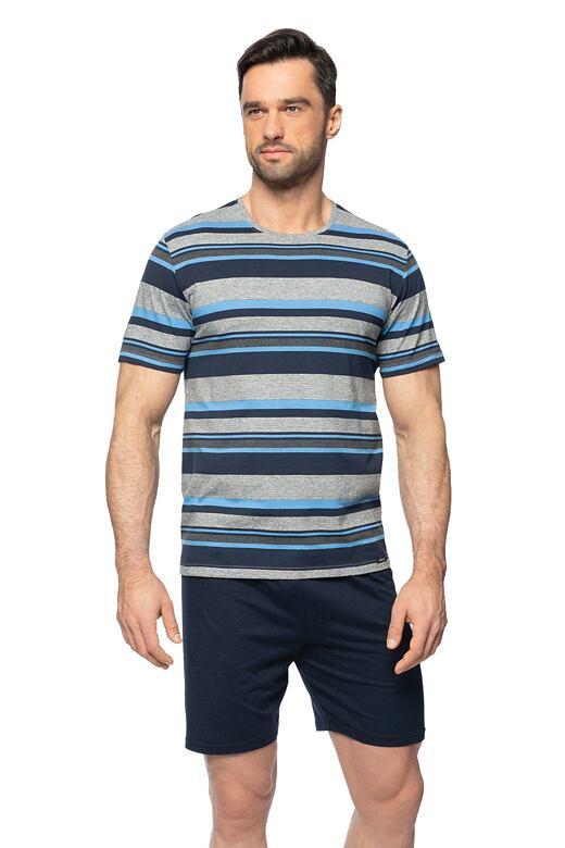 Krátké pánské pyžamo Petr šedé M