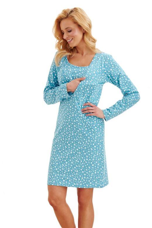 Mateřská noční košilka Linda modrá XL