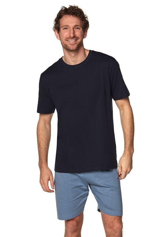 Pánské pyžamo Airon černé se vzorem XXL
