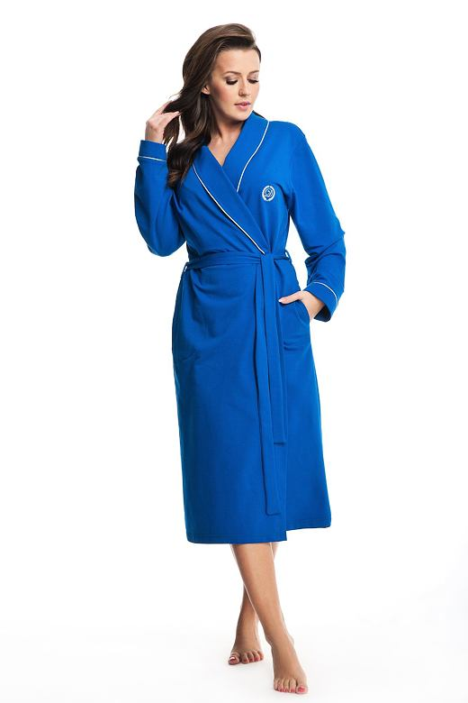 Dámský bavlněný župan Daphne modrý XL