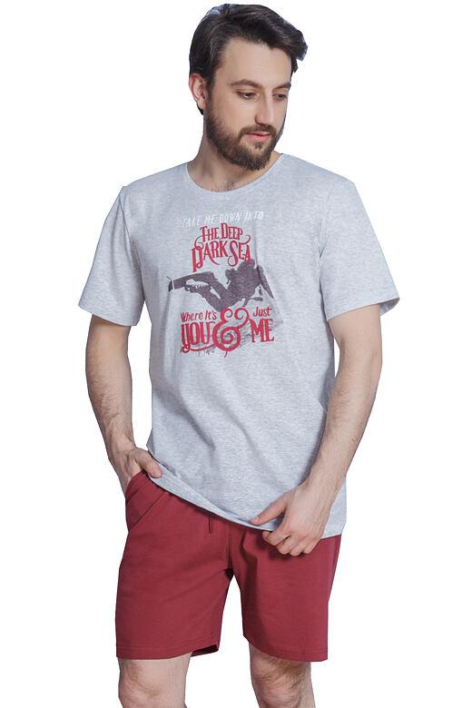 Krátké pánské pyžamo Geezer šedé