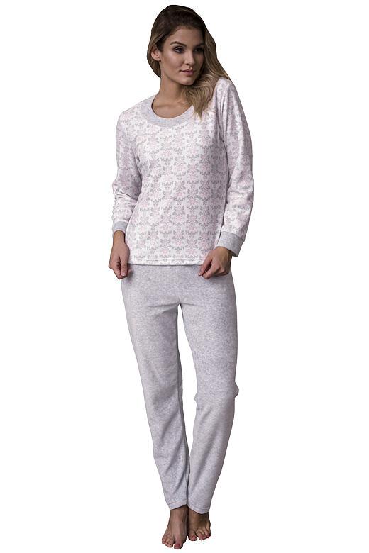 Luxusní velurové dámské pyžamo Orchidea