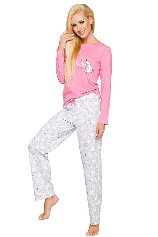 Dámské pyžamo Oda růžové medvídek