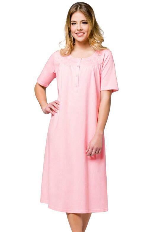 Dlouhá noční košile Lidya růžová