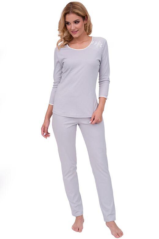 Luxusní dámské pyžamo Marta šedé