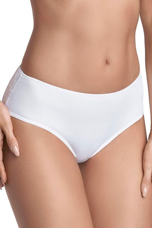 Kalhotky s krajkou 65 bílé S