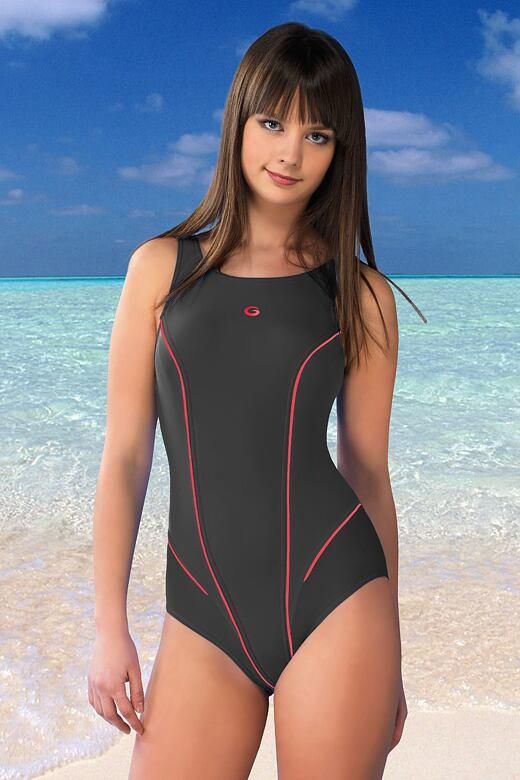 Jednodílné plavky Kayla šedé