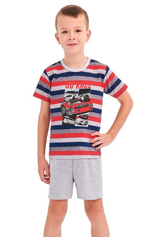 Chlapecké pyžamo Max červené proužky 92