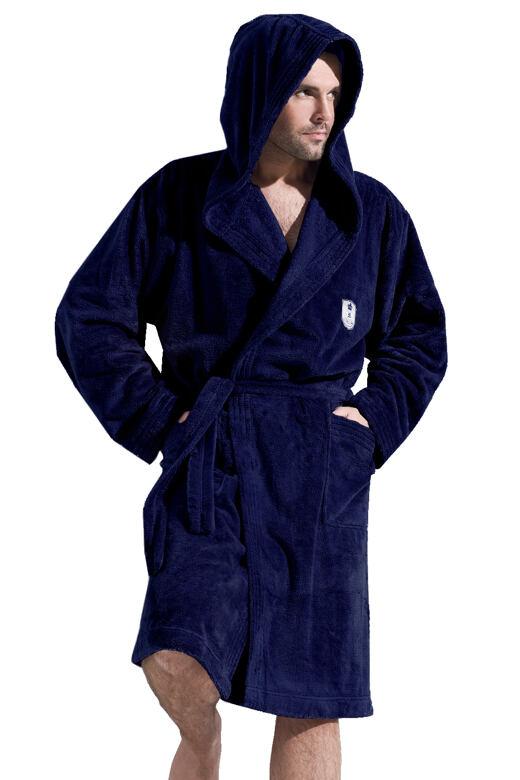 Pánský župan Ivo tmavě modrý XL