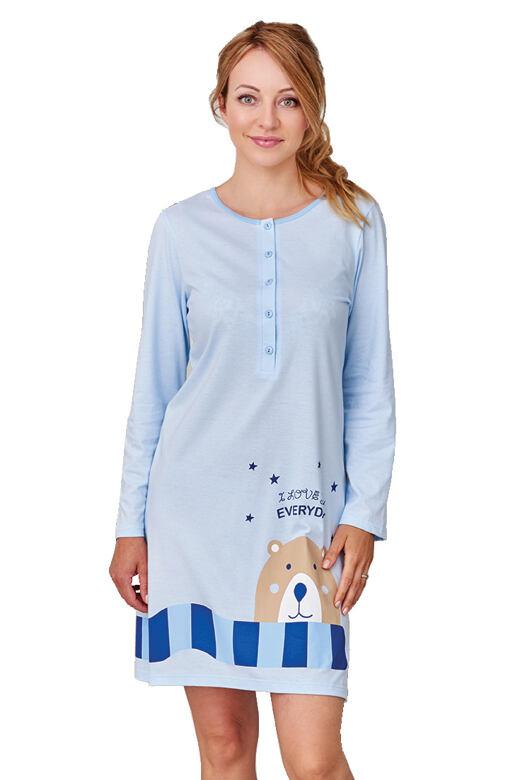 Dámská kojící noční košile Romana modrá