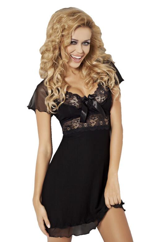 Dámská noční košilka Paulina černá