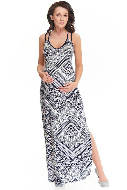 Levně Maxi šaty Marion se vzorem L
