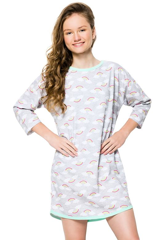 Dívčí noční košile Molly šedá 146