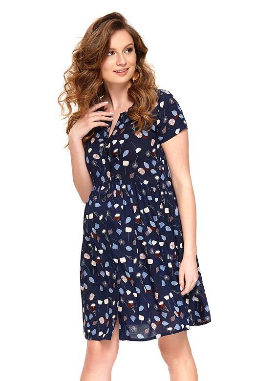 218633ca1dda Letní mateřské šaty Ivona tmavě modré