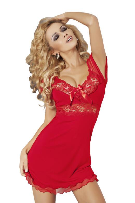 Dámská noční košilka Paulina červená