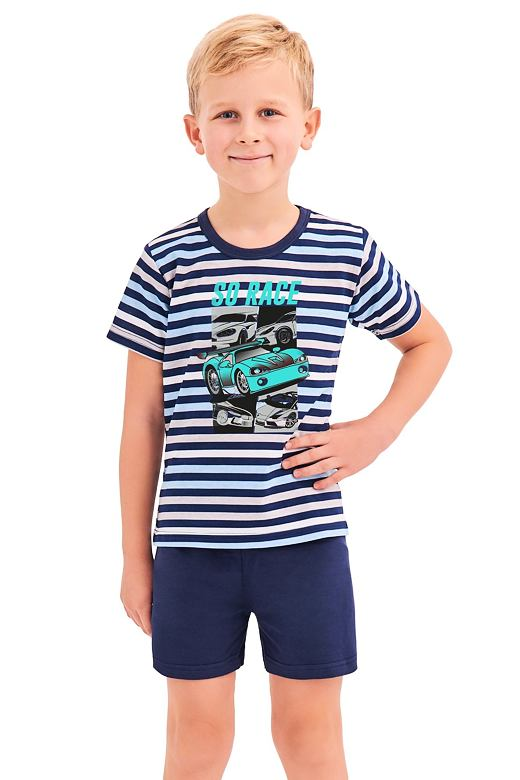 Chlapecké pyžamo Max modré proužky 122