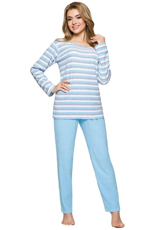 Dámské froté pyžamo Bára s proužky