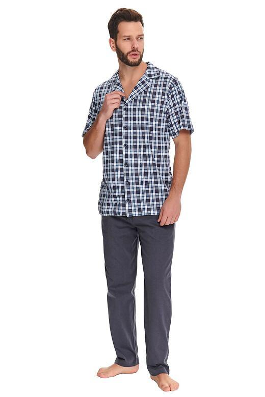 Pánské pyžamo Noah kárované XL