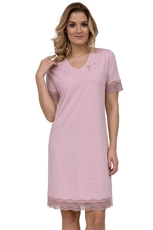 Luxusní noční košile Milada růžová