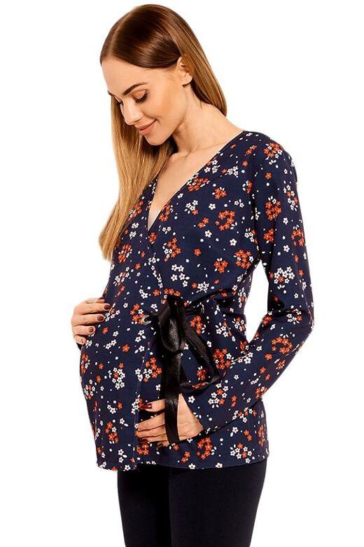 Těhotenská dámská blůza Katie modrá XXL