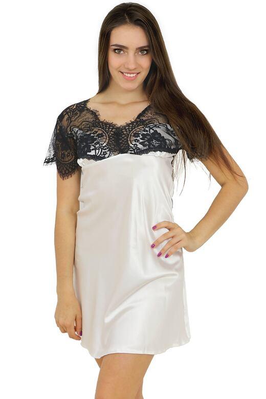 Saténová košilka Kayla bílá