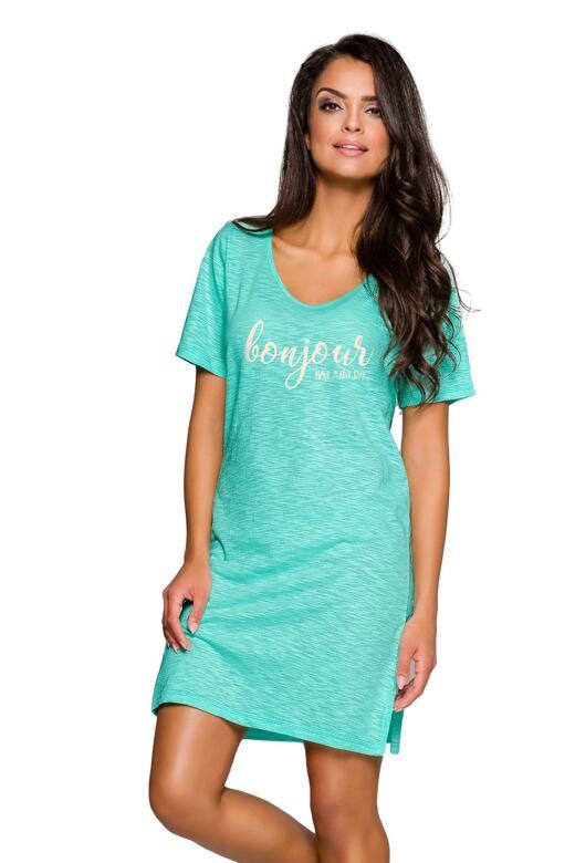 Dámská noční košile Bella zelená 070b5b56a3