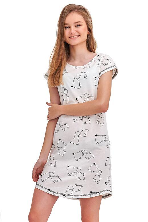 Noční košile Inka bílá Dog 146